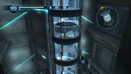 Tall elevator shaft