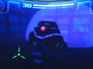 Robot guardián en torvus oscuro