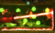 Reina Metroid fuego y esferas verdes MSR