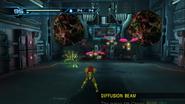Subterranean Control Room - Samus fighting Reos