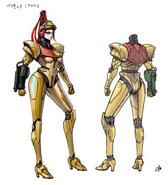 Bayonetta 2 Samus suit concept (final)