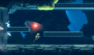 Metroid Samus Returns Diggernaut starts to catch up with Samus