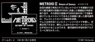 MZM site Metroid II Return of Samus description