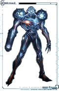 Dark Samus Design Skelton MP2
