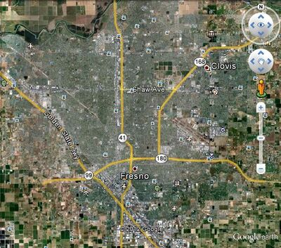 Metropolitan Fresno Map