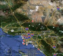 Greater Los Angeles Area Map