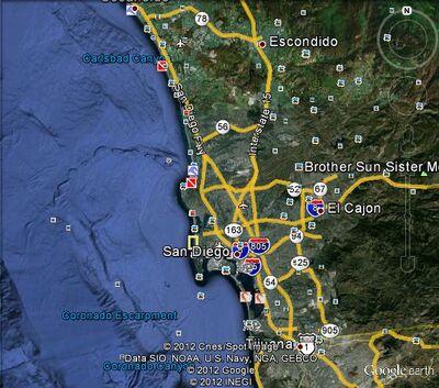 San Diego metropolitan area Map