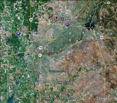 Sacramento metropolitan area Map