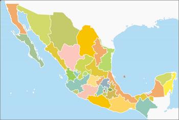 460px-Division politica mexico svg