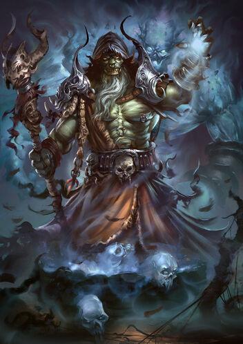 Orc shaman by borisdigitalartist-da2bzwb