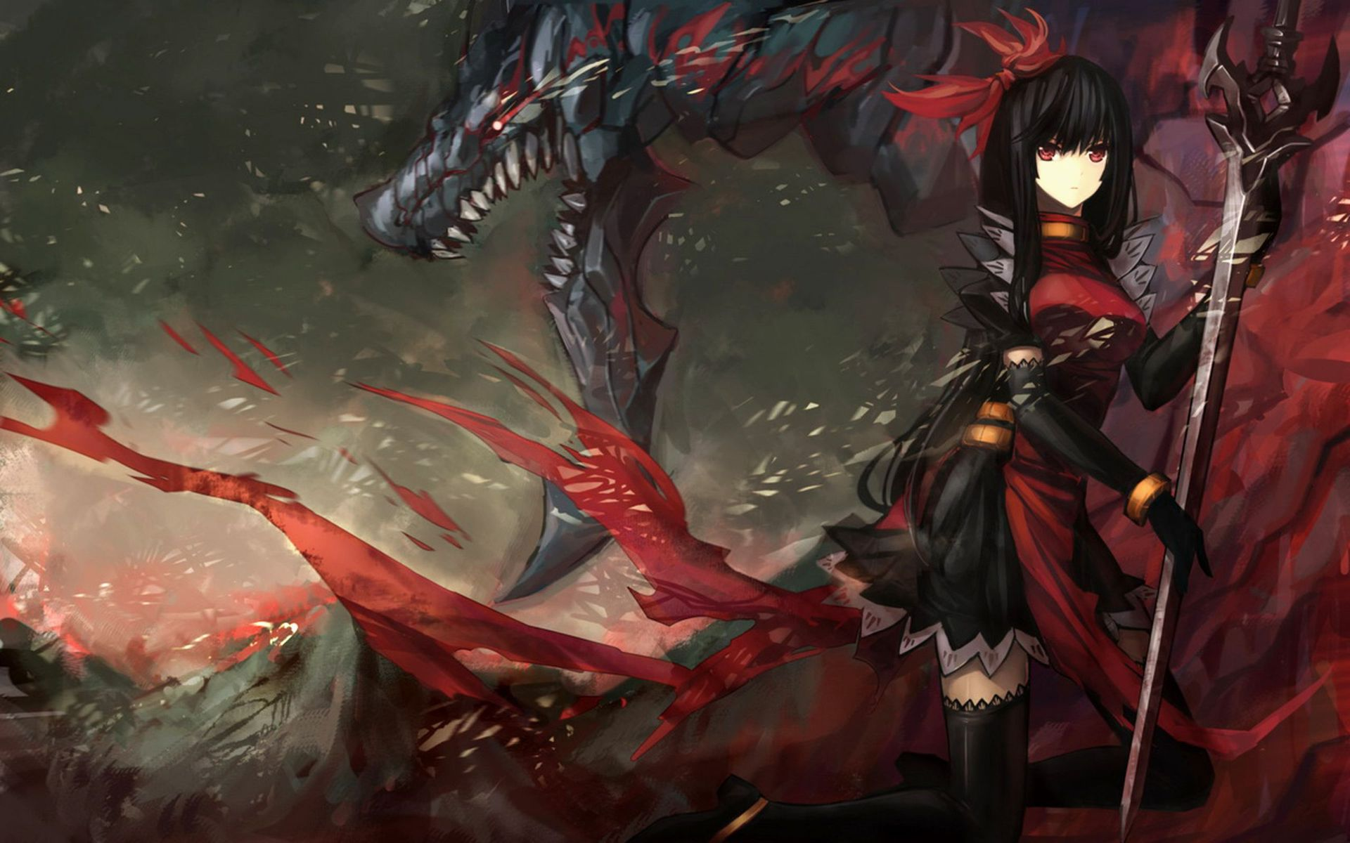image - anime-girl-warrior-anime-hd-wallpaper-1920x1200-9721