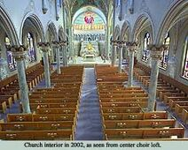 Blessed Virgin Mary Church Interior in 2002