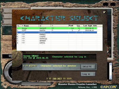 Char select