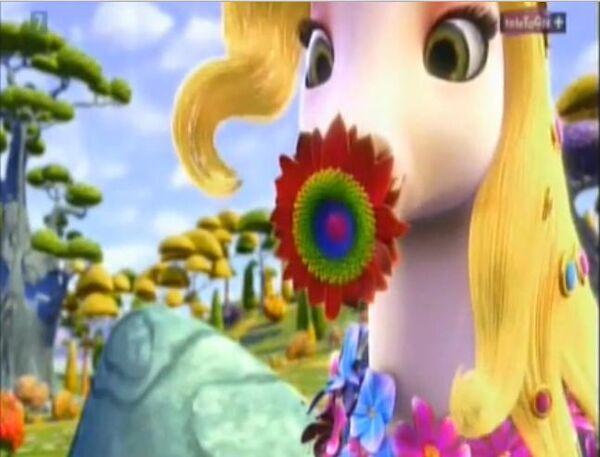 Onchao ma w pyszczu kwiat
