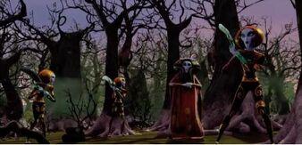 Mankulusy niszczą zasuszony las