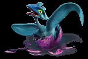 Błękitny na wykuciu blue dragon