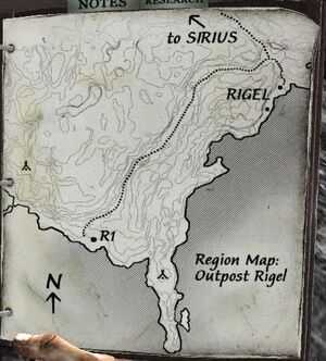 Regional Map for Outpost Rigel