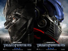 Transformers movie poster megatron optimus prime