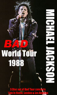Bad world tour triple concerts by prince of pop