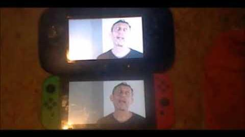 Michael Rosen's Hot Food but it's being played on the Wii U and Nintendo Switch simultaneously