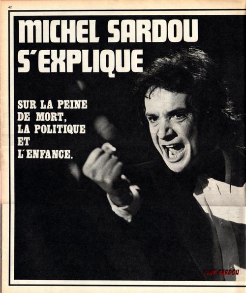 Michel Sardou s'explique sur la peine de mort