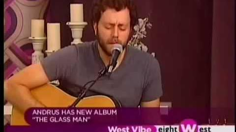 """Christopher Andrus live acoustic performance of """"December Shivers"""" on Eight West"""