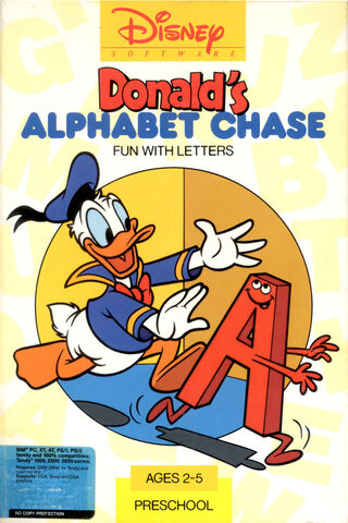 37249-donald-s-alphabet-chase-dos-front-cover
