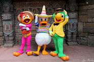 Three caballeros at disney park