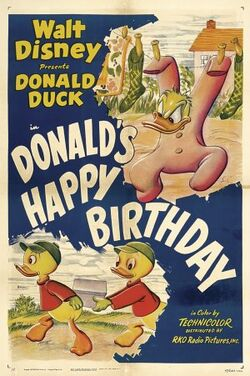 Donald happy birthday poster