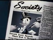 Donald in society newspaper