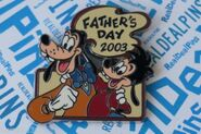 Goofy max father day pin