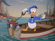 Donald starting outboard motor