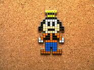 Goofy pixel pin