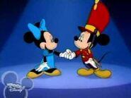 Minnie and nutcracker mickey