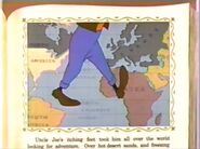 Goofy walking the world