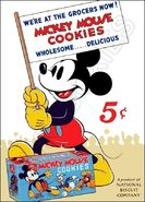 Mickey mouse cookies ad