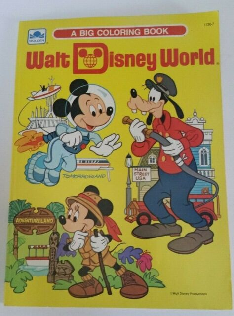 Walt Disney World (A Big Coloring Book) | Mickey and Friends ...