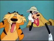 Goofy and tiger catching their breath