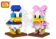 LOZ-Donald-Duck-Daisy-Duck-Model-Building-Block-Sets-Educational-DIY-Bricks-Classic-Toys