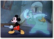 One of the Lonesome Ghosts with Mickey