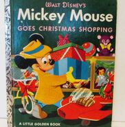 Mickey mouse goes christmas shopping