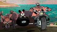 Minnie in motorcyle