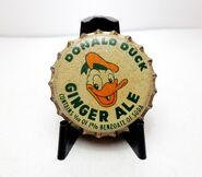 Donald duck ginger ale bottle cap