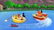 Mickey and pete in boats