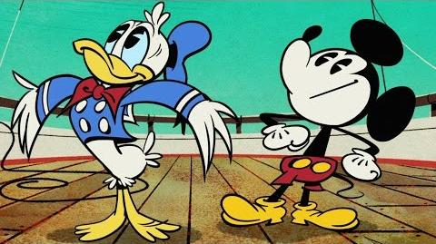 Captain Donald A Mickey Mouse Cartoon Disney Shows