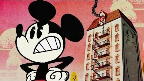 Mickey Mouse in Fire Escape