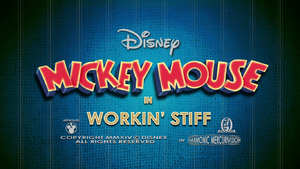 Mickey Mouse Workin' Stiff Title Card