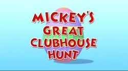 Mickey's Great Clubhouse Hunt title card