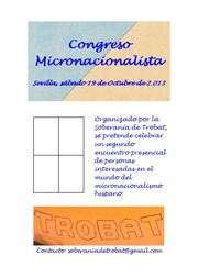 Cartel Congreso Micronacionalista