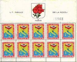 Hoja de sellos Isla de las Rosas